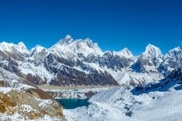 Everest panorama from Renjo la pass